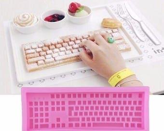 Keyboard Shape ,Silicone Mold, For Fondant ,Cake Mold, Bakware Tools, Soap Mold ,Sugar Tool