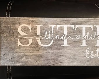 Personalized Name Tile