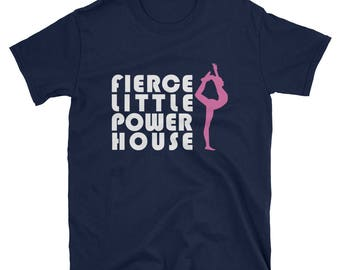 Top Girls Gymnastics Fierce Little Powerhouse Gift T Shirt
