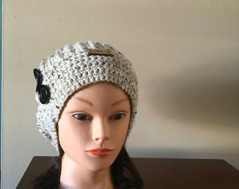 Women's Buttoned Slouchy Hat