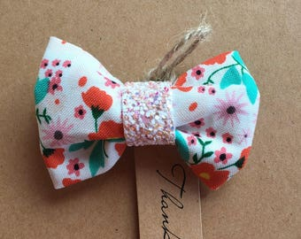 Baby sparkle floral bow