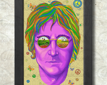 Imagine John Lennon print + 3 for 2 offer! size A3+  33 x 48 cm;  13 x 19 in