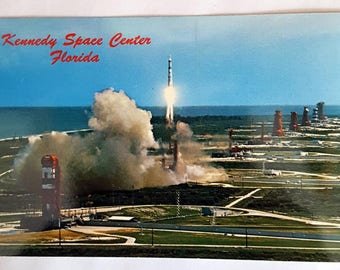 Kennedy Space Center Vintage Postcard