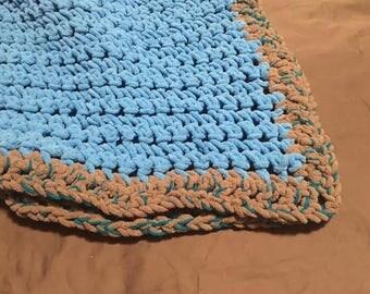 Crochet Baby Blanket - blue