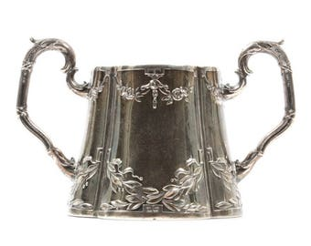 German 800 Silver Repoussé Sugar Bowl