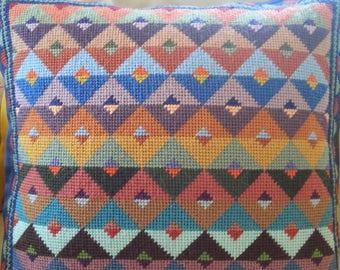 Handmade tapestry needlepoint cushion cover