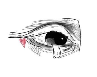 CRYING UNIQUE PRINT