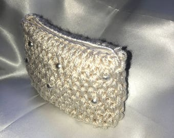 Clutch, beads, elegant lady's bag