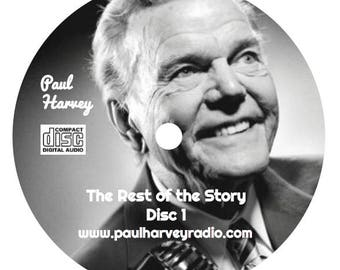 Paul Harvey: 'The Rest of the Story' Old Time Radio (243 Episodes) 13 Audio CD's