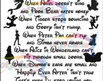 Loving Disney Silhouette Digital Download