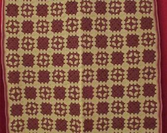 Handmade crochet granny square afghan throw blanket