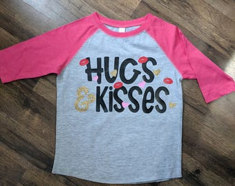 Hugs and kisses Valentine's shirt