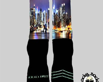 NYC Skyline Socks || FREE SHIPPING ||