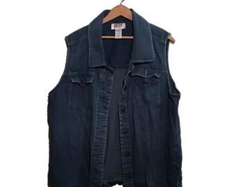 Vintage 90s Mainstreet Blues Denim Blue Vest