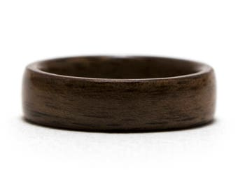 Walnut Wood Ring, Bentwood Ring, Wooden Ring