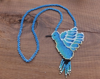 Hummingbird Necklace in Colombia
