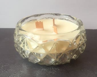 Vintage Glass Candle - Fresh Cotton  Fragrance