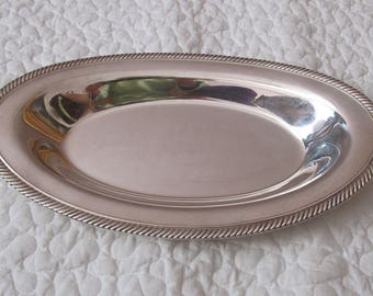 WM ROGERS Silver plate tray