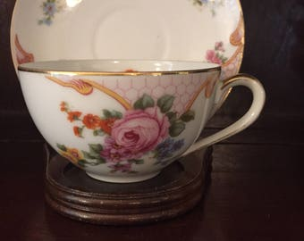 Vintage Epiag Tea Cup and Saucer, marked Czechoslovakia