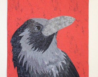 Raven Art Quilt, Full Purchase Price DONATED TO CHARITY!