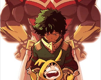 "11"" by 17"" All Might & Deku Print"