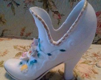 Vintage ceramic shoe