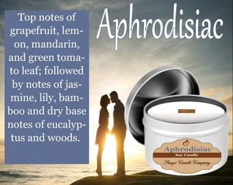 Aphrodisiac  Scented Soy Candle Tin (8 oz.)