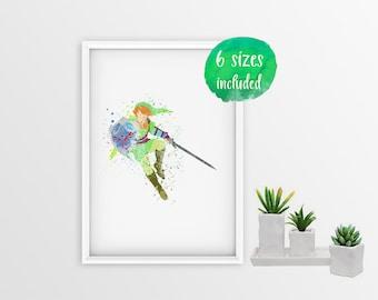 The legend of zelda, the lgend of zelda poster, zelda print, zelda poster, zelda wall art, the legend of zelda sword 10755a