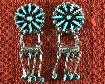 Native American Zuni Dangle Earrings