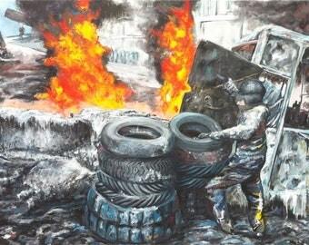 Barricades1 / 120X90cm - oil on canvas