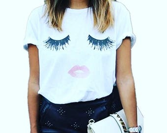 Lash and lips tee shirt