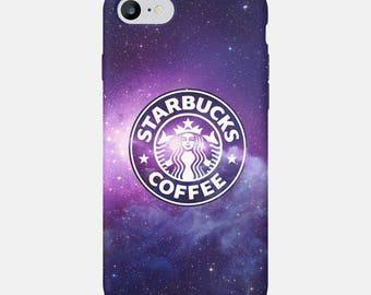 Starbucks iPhone 7 Case, Space iPhone 6S Case, Starbucks iPhone 8 Case, iPhone X Case, Space Phone Case, Phone Cover, Starbucks Case iPhone