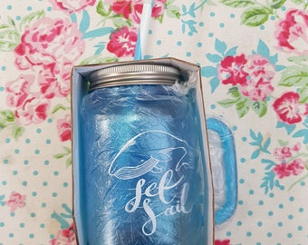 Plastic whale drinking jar