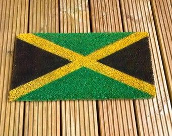 jamaican flag doormat