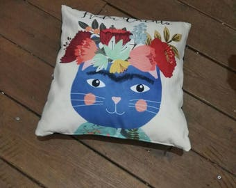Decoative Cat Frida Pillow
