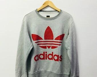 FREE SHIPPING!!! Vintage Adidas Sweatshirt Big Logo Large Size