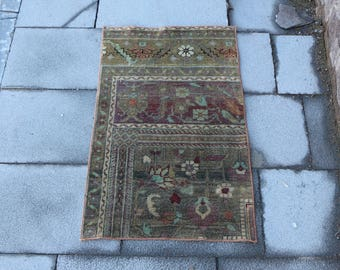 Free Shipping 1.8 x 2.9 ft. handknotted turkish rug, old rug, ready to use, nomadic doormat rug, bohemian rug, oushak rug, wool carpet MB327