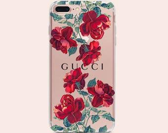 Gucci iPhone X case clear iPhone 8 Case Floral Gucci iPhone 8 plus Case Roses iPhone case Gucci iPhone 7 plus Case Gucci flowers iPhone 6s+