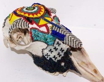 Beaded Sheep Skull