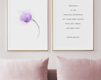 Wall Art For Living Room - Living Room Wall Art - Living Room Art Print - Living Room Purple Flower Print