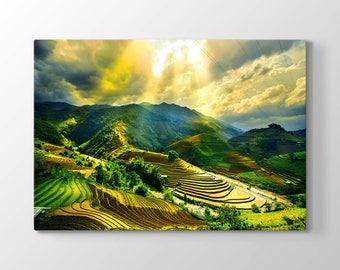 Mu Cang Chai Printing On Canvas, Wall Art, Canvas Prints, Room Deco, Beautiful View, Wonder