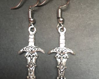 Athame Dagger charm earrings