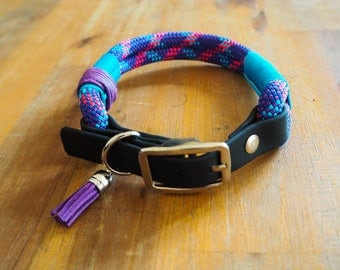 Dog collar climbing rope, collar made of dew, handmade, sturdy, easy to maintain, fixed dog dollar