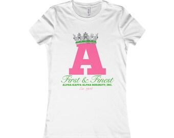 Alpha Kappa Alpha  First And Finest Tshirt