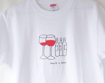 Original illustration T-Shirts World is wine