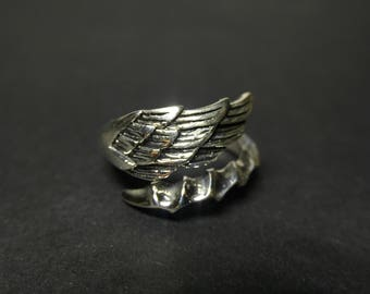 Freedom Collection wings, 925 silver, ring 005