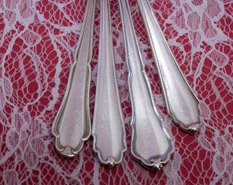 4 beautiful Rococo teaspoon, mix and match, set 100