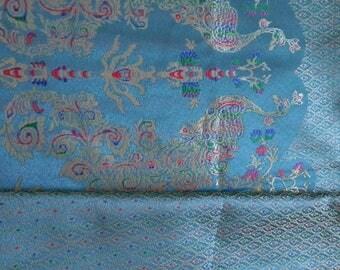 Peacock Thai woven cotton fabric