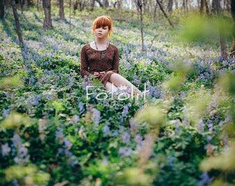 Flowers background, spring digital backdrop, meadow background, summer background, spring background, forest backdrop, green grass, purple