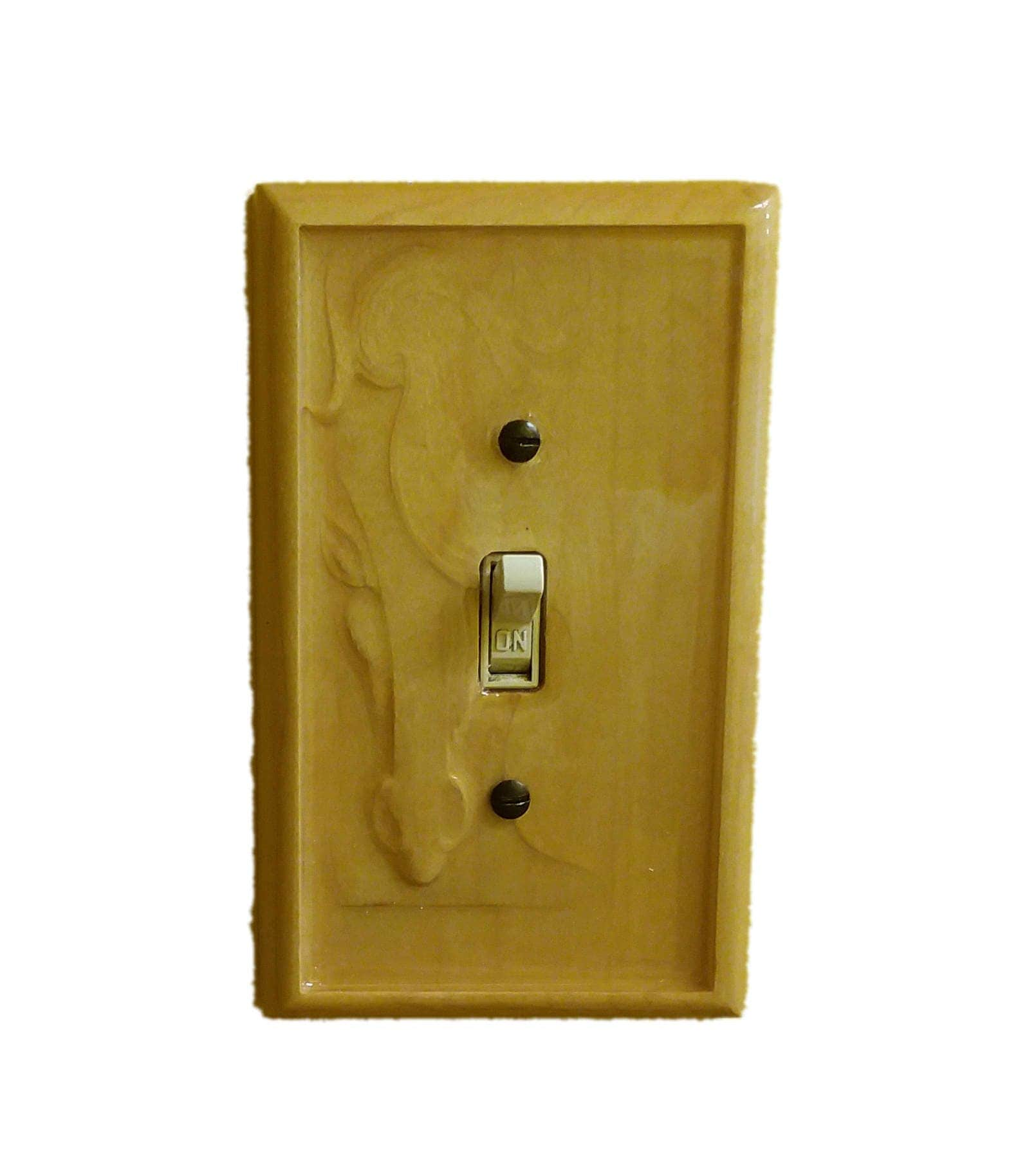 Horse engraved single switch cover. Horse house decor, horse light ...